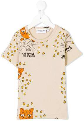 Mini Rodini cat advice print T-shirt