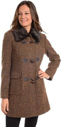 Fleet Street Women's Tweed Faux-Fur Trim Collar