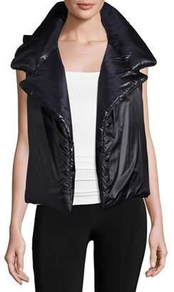 Norma Kamali Sleeping Bag Puffer Vest $300 thestylecure.com