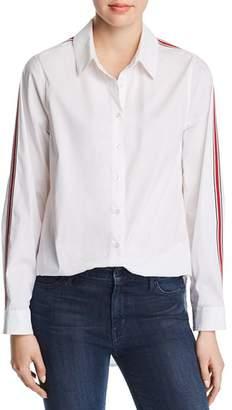 Calvin Klein Ribbon-Trim Button-Down Top