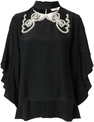 Fendi pearl-embellished blouse