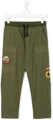 Diesel logo patch cargo trousers