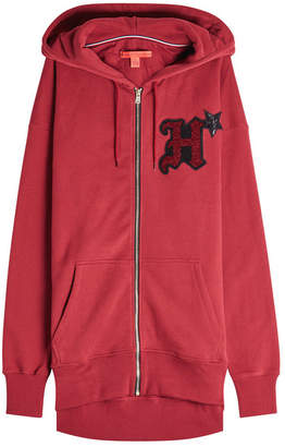 Tommy Hilfiger Embellished Cotton Hoodie with Zipped Front