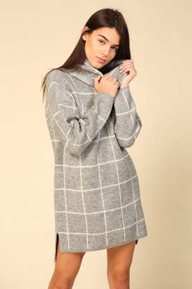 Lumiere Grid Sweater Dress