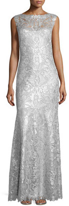 Tadashi Shoji Sleeveless Sequined-Lace Gown $508 thestylecure.com