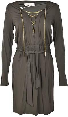 MICHAEL Michael Kors Michael Kors Embellished Tied-front Dress