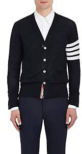 Thom Browne Men's Block-Striped Wool Cardigan - Navy