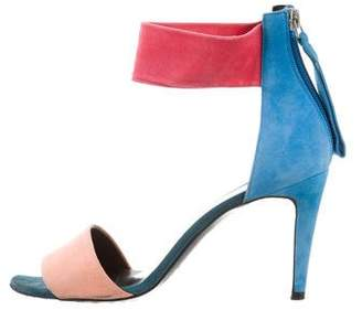 Pierre Hardy Suede Tri-Color Sandals