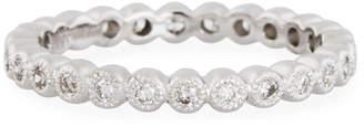 Neiman Marcus Diamonds 18k White Gold Diamond Eternity Band, 0.38tcw, Size 6.5