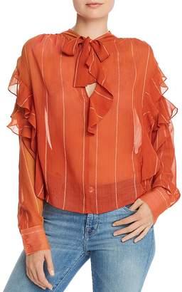 Joie Lorea Ruffled Silk Blouse