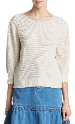 See by Chloe Long Sleeve Cotton Knit Sweater