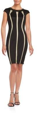Jax Mesh Panel Sheath Dress
