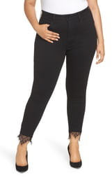 Seven7 Embroidered Side Skinny Jeans