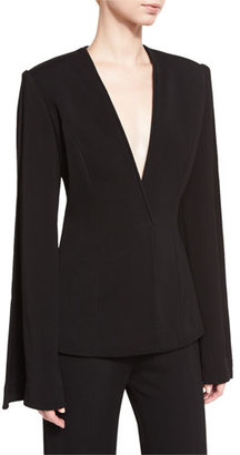 Brandon Maxwell Classic Suiting Jacket, Black $1,895 thestylecure.com