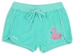 Butter Shoes Girls' Flamingo Terry Shorts - Little Kid