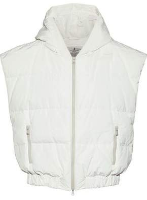 Brunello Cucinelli Quilted Shell Hooded Vest