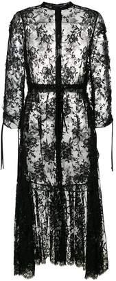 Alexander McQueen layered sheer dress