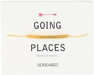 Dogeared Id Going Places Thin Bar Bracelet
