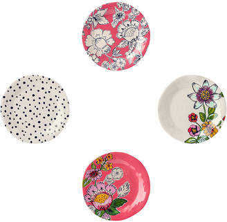 Vera Bradley Coral Floral 4-Pc. Melamine Tidbit Plate Set
