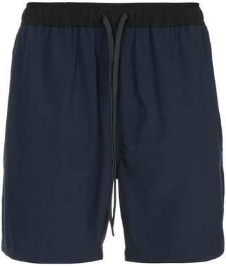 The Upside drawstring waist track shorts