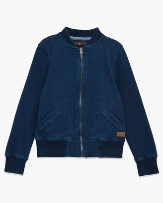 7 For All Mankind Kids Boys 4-7 Bomber Jacket In Indigo