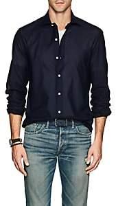 Barneys New York Men's Cotton Piqué Shirt - Navy