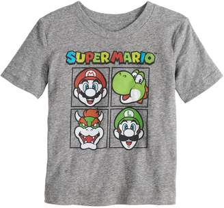 ec3cff0ce Toddler Boy Jumping Beans Super Mario Bros. Grid Graphic Tee