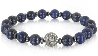 Lapis Blackbourne Lazuli Small Stone Men's Bracelet w/Brass Golf Ball