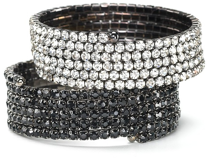 R.J. Graziano Five Row Crystal Cuff, 0.875