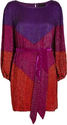 retrofete Grace Colorblocked Sequin Mini Dress