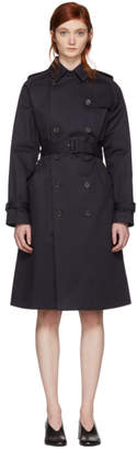 A.P.C. Navy Greta Trench Coat