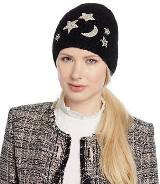 Jennifer Behr Galexia Stars & Moon Embellished Beanie Hat