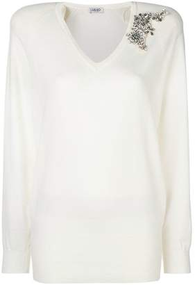 Liu Jo V-neck knitted top
