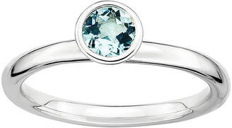 JCPenney FINE JEWELRY Personally Stackable Genuine Aquamarine Sterling Silver Stackable Ring