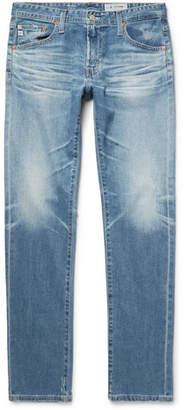 AG Jeans Tellis Slim-Fit Distressed Stretch-Denim Jeans