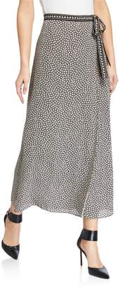 Max Studio Printed Side-Tie Maxi Skirt