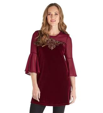 Joe Browns Red Little Bit Different Tunic Top