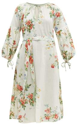 D'Ascoli Old Rose Floral Print Cotton Dress - Womens - Multi