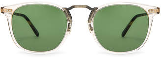 Oliver Peoples Roone in Buff Vintage DTB & Antique Gold w/ Green | FWRD