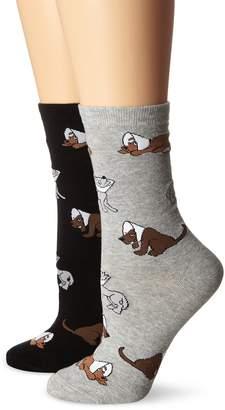 K. Bell Socks Women's Cone Dogs Crew Socks 2-Pack