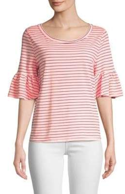 Splendid Striped Ruffle Tee