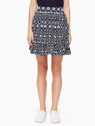 Kate Spade Eyelet wrap skirt
