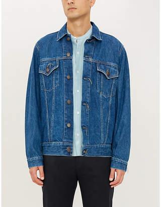Sandro Mandarin collar regular-fit linen shirt