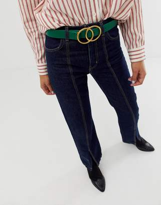 Asos DESIGN double circle waist & hip jeans belt
