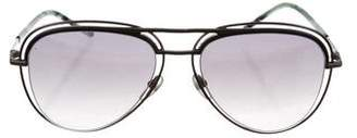 Marc Jacobs Reflective Aviator Sunglasses