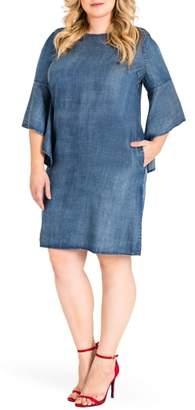 Standards & Practices Sharon Ruffle Sleeve Mini Dress