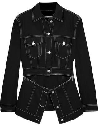 Alexander McQueen Zip-detailed Denim Jacket - Black