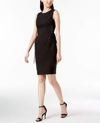 Calvin Klein Cotton Lace-Up Corset Dress