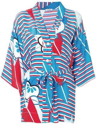 P.A.R.O.S.H. striped floral kimono