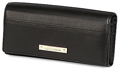 Liz Claiborne Grace Leather Flap Clutch